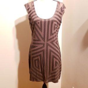 Express Bronze Sleeveless Sequin Tunic w/Mesh Back